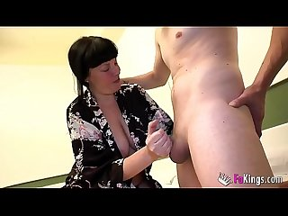 BUSTY mature 49yo Paula Vazquez bangs a rookie guy that looks like her nephew