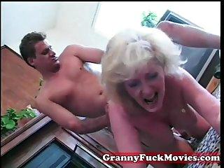 Thirsty granny fucked stud