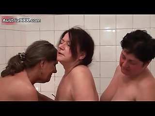 Mature lesbians go crazy making out