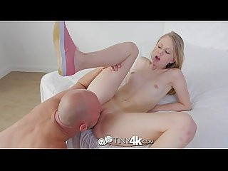 Tiny4k little angel face lily rader takes a load of cum