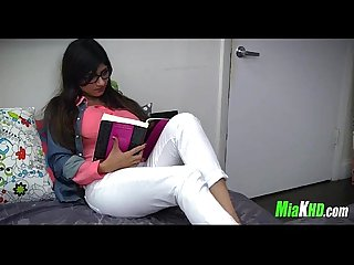 Mia Khalifa teaches her muslim friend how to suck cock 6 91