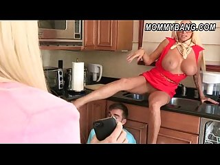 Rikki six caught her bf with her stepmom nikita von james