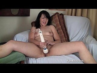 Sexy becky vibrating her twat