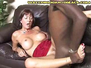 Milf cums with black cocks in her