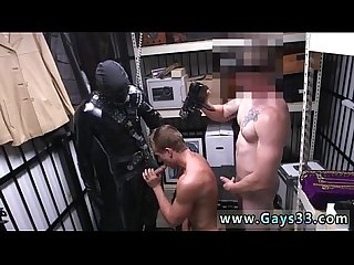 Sucking a sleeping black straight gay Dungeon master with a gimp