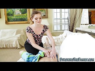Dick jerking stepsis teen