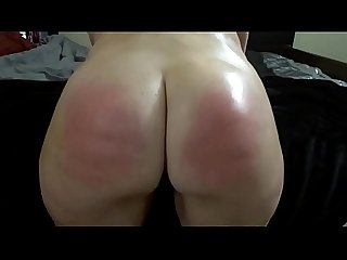 Pawg ass oiled and spanked
