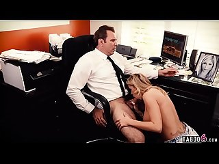 Raging guy fucks a sexy blonde babe hard in his office