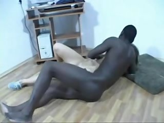 Pretty white girl sucks and fucks black cock