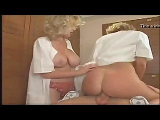 Threesome big tits cougars