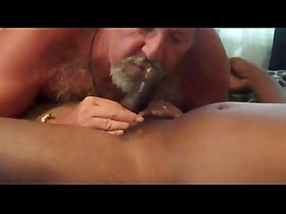 Daddy eats black cum