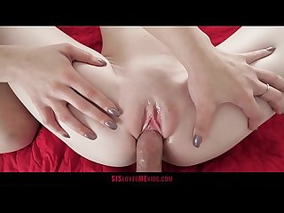 Teen's Stepmom Teaches Her How To Fuck Her Stepbro