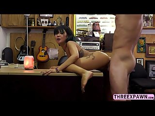 Hunk shop owner gets hard on while receiving a massage from a petite asian chick