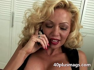 Blonde 40 plus does phone sex