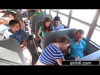 Naughty Students Fuck In The School Bus - Maddy O'reilly