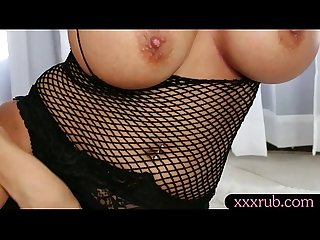 Big titties masseuse swallows warm cum