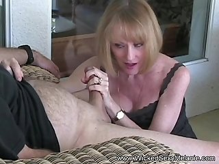 Sloppy nasty granny facial for amateur gilf