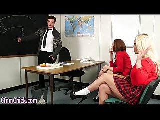 Cfnm schoolgirls stroking