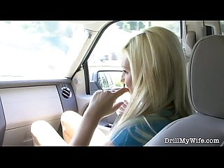 Horny blonde wife gets nailed by a stranger