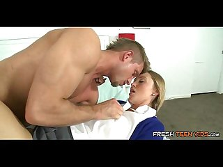 Uniform schoolgirl fucked passionately