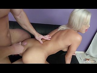 Fakeshooting first casting audition for czech skinny blonde bitch ria sunn