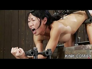 Hot pretty babe dominated comma bound and fucked