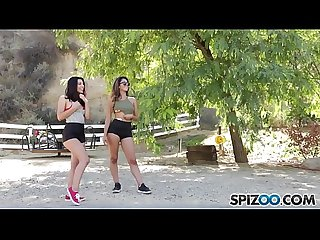 Spizoo - Teens Gina Valentina & Sophia fucking a huge cock, Threesome, big booty &..