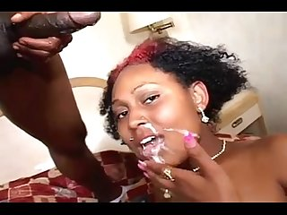 Say Ahhhh Bitch! Facial/Swallow Ebony Cumpilation 2