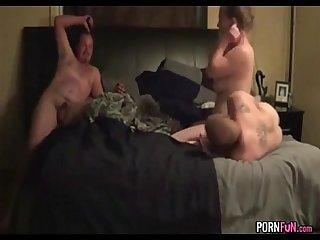 Swinger threesome with a stranger