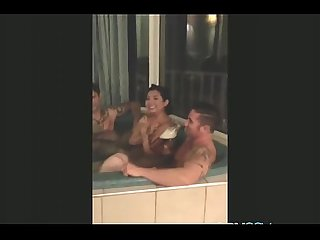 Group sex in jacuzzy