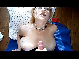 Milf sprayed with young guy S hot cum