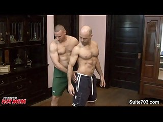 Bald jocks banging asses