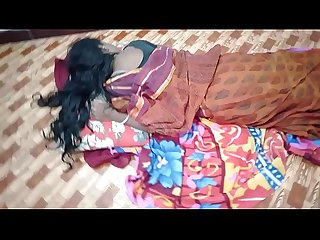 indian House wife sharing bed with her Husband friend when his husband deeply sleeping