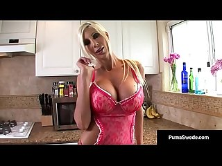 Puma Swede takes One Banana, Two Bananas, in her holes!