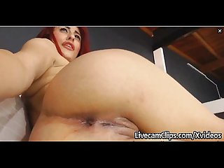 Busty redhead on cam must see