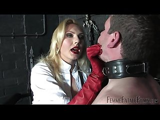 Off The Wall part2 - Mistress Akella - FemmeFataleFilms - Face Slapping