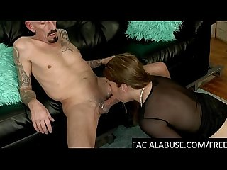 Young MILF breaks down deepthroating