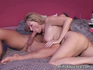 This horny and hot blonde milf