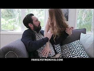 Tiny Blonde Teen Step d. Audrey Hempburne Family Sex With Step Dad As Payback For Her Mom..