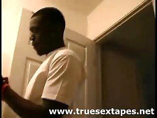 Homemade tape of amateur black girl fucking