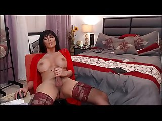 Incredibly Beautiful Shemale Masturbating to Orgasm - Cam Show