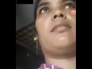 Video call with friend wife indian