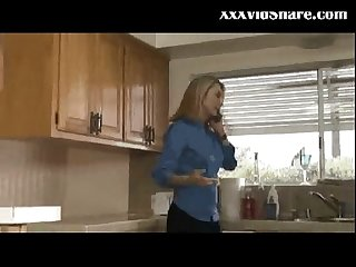 Horny wife fucked in the kitchen