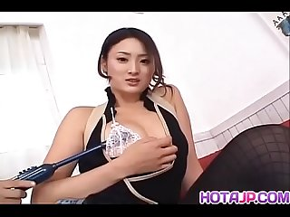 Risa Murakami in hot lingerie gets cumshot