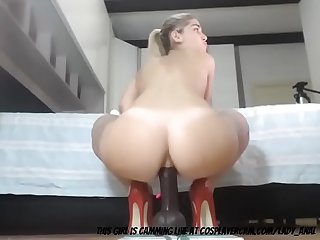 German Wife stretching her Ass