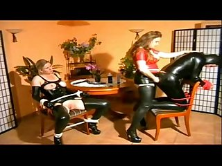 Mistress fucks heer male and female slaves best scenes