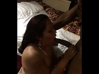 Thick latina milf throat fucked