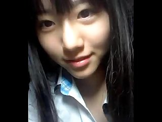 Korean school girl nude on webcam for boyfriend