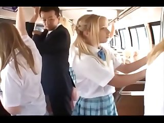 School girl in a bus