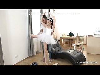 Teen Ballerina Makes a Pli� Over Huge Cock